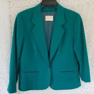 Pendleton Wool Blue/Green Blazor Size 10
